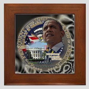 Obama Re-elected Framed Tile