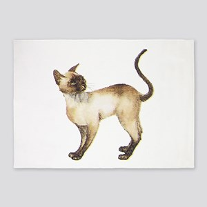 Siamese cat 5'x7'Area Rug