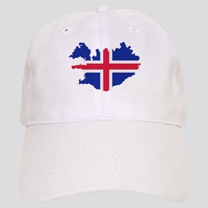 Iceland map flag Cap