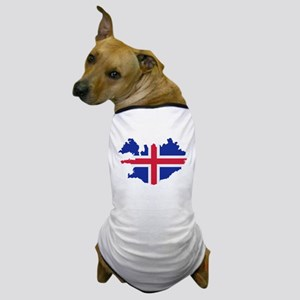 Iceland map flag Dog T-Shirt