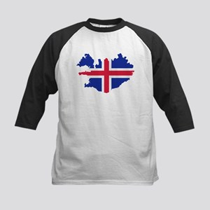Iceland map flag Kids Baseball Jersey
