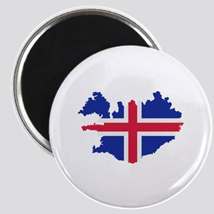 Iceland map flag Magnet