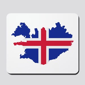 Iceland map flag Mousepad