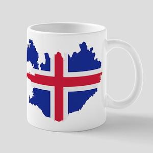 Iceland map flag Mug