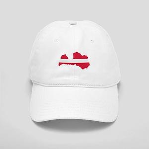 Latvia map flag Cap
