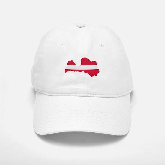 Latvia map flag Baseball Baseball Cap