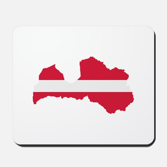 Latvia map flag Mousepad