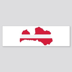 Latvia map flag Sticker (Bumper)