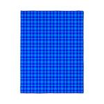 Blue Checkered Gingham Pattern Twin Duvet