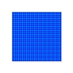 Blue Checkered Gingham Pattern Square Sticker 3
