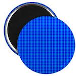 Blue Checkered Gingham Pattern Magnet