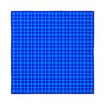 Blue Checkered Gingham Pattern Queen Duvet