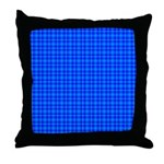 Blue Checkered Gingham Pattern Throw Pillow