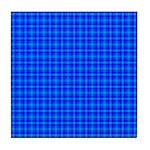 Blue Checkered Gingham Pattern Tile Coaster