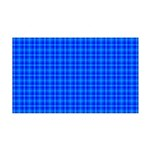 Blue Checkered Gingham Pattern 35x21 Wall Decal