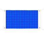 Blue Checkered Gingham Pattern Banner