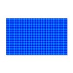 Blue Checkered Gingham Pattern 20x12 Wall Decal