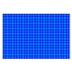 Blue Checkered Gingham Pattern Large Poster