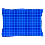 Blue Checkered Gingham Pattern Pillow Case