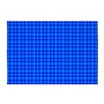 Blue Checkered Gingham Pattern 5'x7'Area Rug