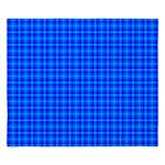 Blue Checkered Gingham Pattern King Duvet