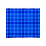 Blue Checkered Gingham Pattern Throw Blanket