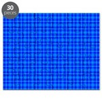 Blue Checkered Gingham Pattern Puzzle