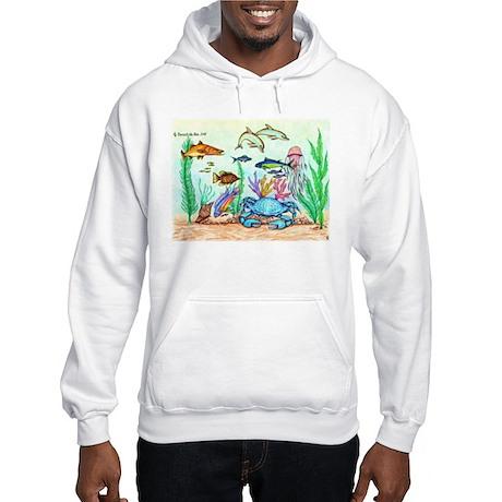 "The ""Beneath The Sea"", Original Drawing Hooded Swe"