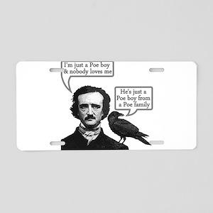 Poe Boy Aluminum License Plate