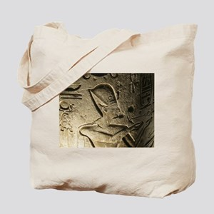 Funky Egyptian Hieroglyph at Night Tote Bag