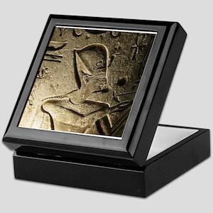 Funky Egyptian Hieroglyph at Night Keepsake Box