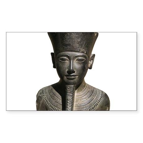 An Egyptian Statue Sticker (Rectangle)