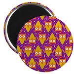 Orange Blue Owl Pattern Magnet