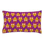 Orange Blue Owl Pattern Pillow Case