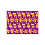 Orange Blue Owl Pattern 5'x7'Area Rug