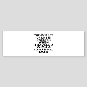 Traveled With Cocker Spaniel Dog Sticker (Bumper)