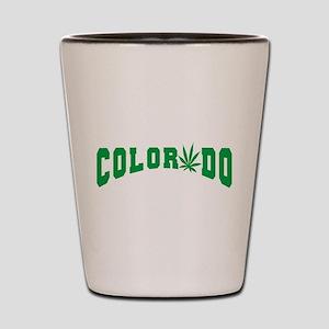 Colorado Cannabis Shot Glass