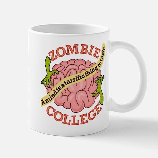 Funny Zombie College Logo Mug