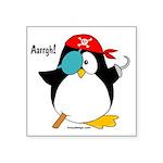 Pirate Penguin Square Sticker 3