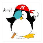 Pirate Penguin Square Car Magnet 3