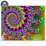 Green Purple Fractal Pattern Puzzle