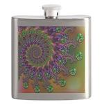 Green Purple Fractal Pattern Flask