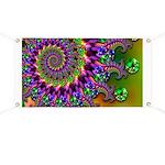Green Purple Fractal Pattern Banner