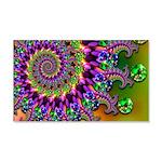 Green Purple Fractal Pattern 20x12 Wall Decal