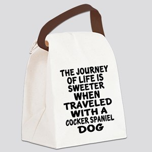 Traveled With Cocker Spaniel Dog Canvas Lunch Bag