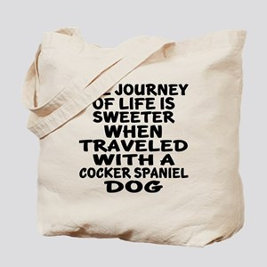Traveled With Cocker Spaniel Dog Designs Tote Bag