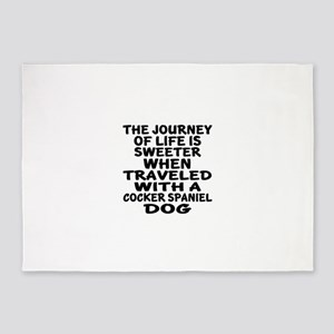 Traveled With Cocker Spaniel Dog De 5'x7'Area Rug