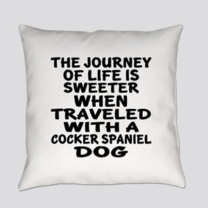 Traveled With Cocker Spaniel Dog D Everyday Pillow