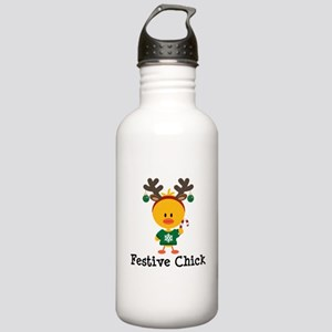 Festive Chick Stainless Water Bottle 1.0L