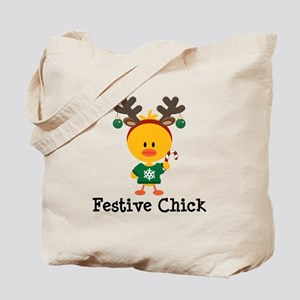 Festive Chick Tote Bag